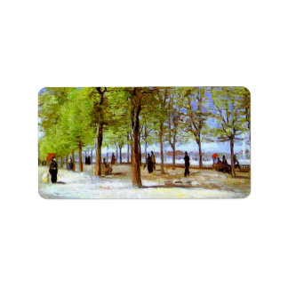 Van Gogh - Terrace in the Luxembourg Garden Address Label