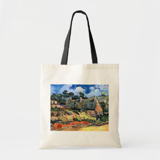 Van Gogh - Thatched Cottages At Cordeville Tote Bags