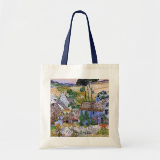 Van Gogh; Thatched Cottages by a Hill Tote Bags