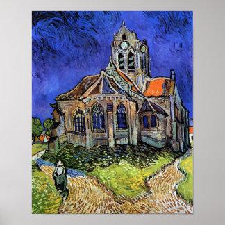 Van Gogh - The Church at Auvers Poster