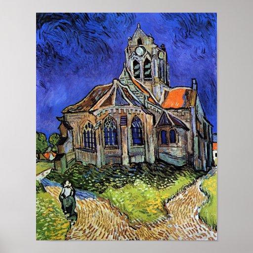 Van Gogh The Church at Auvers Poster