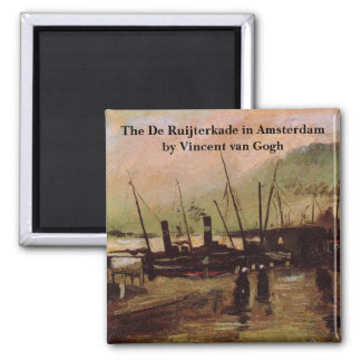 Van Gogh The De Ruijterkade in Amsterdam Square Magnet