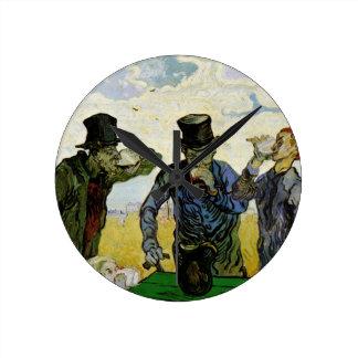 Van Gogh; The Drinkers, Vintage Post Impressionism Clocks
