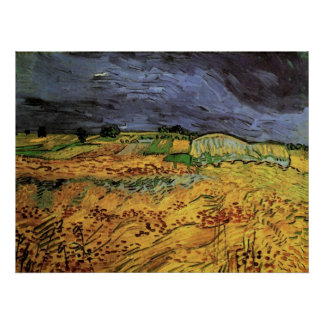Van Gogh; The Fields, Vintage Post Impressionism Posters