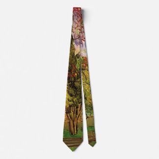 Van Gogh The Garden of Saint Paul Hospital Tie