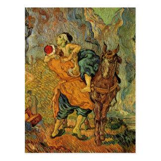 Van Gogh The Good Samaritan, Vintage Impressionism Post Card