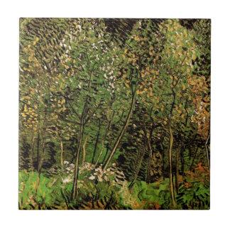 Van Gogh The Grove, Vintage Impressionism Art Ceramic Tile