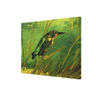 Van Gogh The Kingfisher, Vintage Impressionism Art Canvas Print