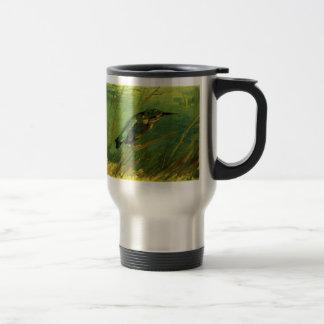 Van Gogh The Kingfisher, Vintage Impressionism Art Stainless Steel Travel Mug