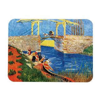Van Gogh - The Langlois Bridge At Arles Rectangle Magnets