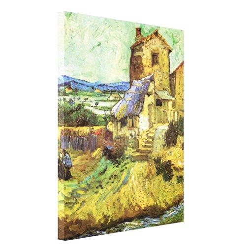 Van Gogh; The Old Mill, Vintage Building Landscape Canvas Print