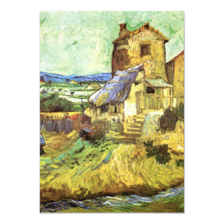 Van Gogh; The Old Mill, Vintage Building Landscape 5x7 Paper Invitation Card
