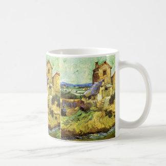 Van Gogh; The Old Mill, Vintage Building Landscape Mugs