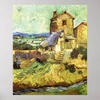 Van Gogh; The Old Mill, Vintage Building Landscape Poster