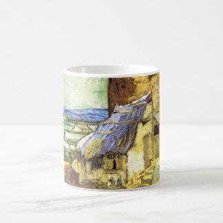Van Gogh The Old Mill, Vintage Landscape Fine Art Basic White Mug