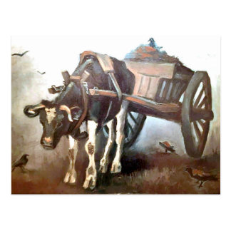 Van Gogh - The Ox Cart Postcard