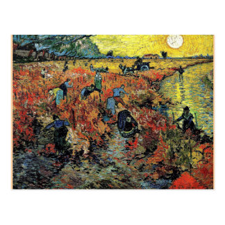 Van Gogh - The Red Vineyard Postcard