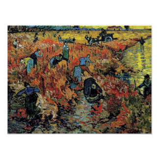 Van Gogh - The Red Vineyard Poster