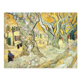 van gogh the road menders postcard