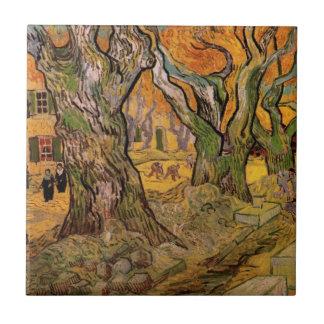 Van Gogh The Road Menders, Vintage Impressionism Tile