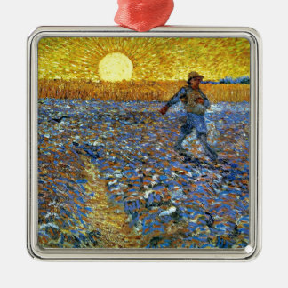 Van Gogh - The Sower Metal Ornament