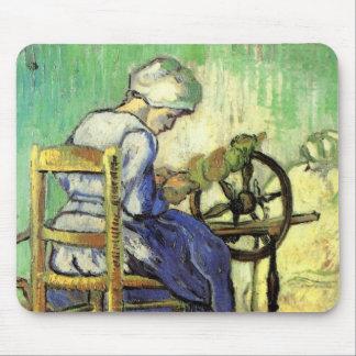 Van Gogh, The Spinner, Vintage Impressionism Art Mouse Pad