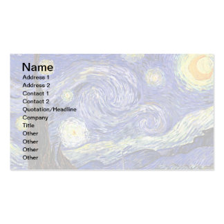 Van Gogh - The Starry Night Pack Of Standard Business Cards