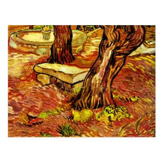 Van Gogh - The Stone Bench Postcard
