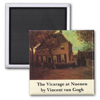 Van Gogh The Vicarage at Nuenen, Vintage Fine Art Square Magnet