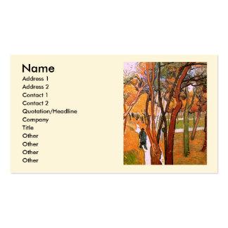 Van Gogh The Walk: Falling Leaves, Vintage Art Business Cards