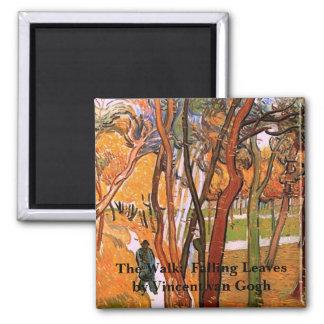 Van Gogh The Walk: Falling Leaves, Vintage Art Fridge Magnet