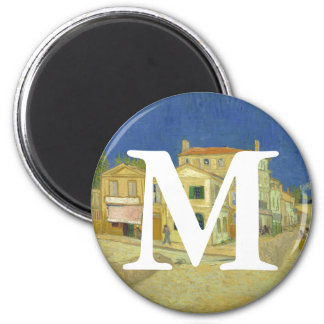 Van Gogh | The Yellow House | 1888 2 Inch Round Magnet