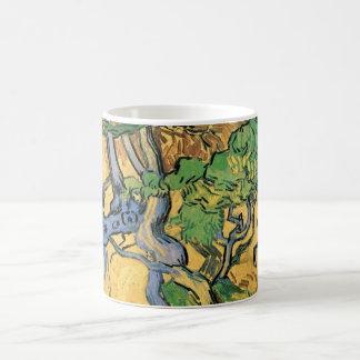 Van Gogh Tree Roots and Trunks, Vintage Fine Art Coffee Mug