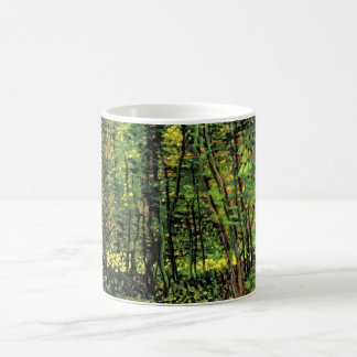 Van Gogh Trees and Undergrowth, Vintage Fine Art Coffee Mug