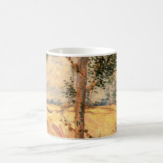 Van Gogh Trees in a Field on a Sunny Day Basic White Mug