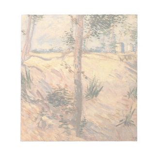 Van Gogh Trees in a Field on a Sunny Day Memo Note Pads