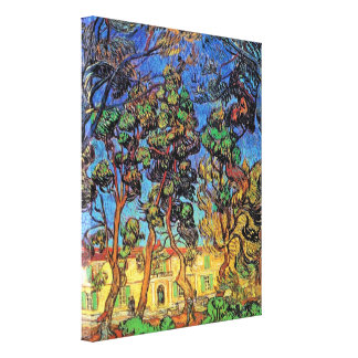 Van Gogh - Trees In The Garden Gallery Wrapped Canvas