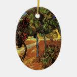 Van Gogh Trees in the Garden, Saint-Paul Hospital Ornament