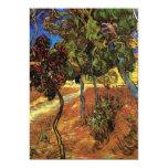 Van Gogh Trees in the Garden, Saint Paul Hospital 13 Cm X 18 Cm Invitation Card