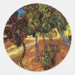 Van Gogh Trees in the Garden, Saint Paul Hospital Round Sticker