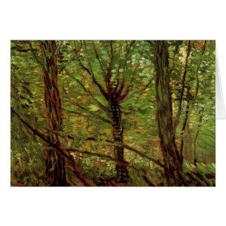 Van Gogh Trees Undergrowth, Vintage Impressionism Card