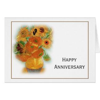 Van Gogh twelve sunflowers happy anniversary Card