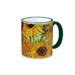 Van Gogh - Twelve Sunflowers Ringer Mug