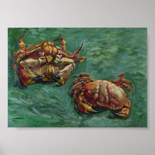 Van Gogh Two Crabs (F606) Fine Art Poster