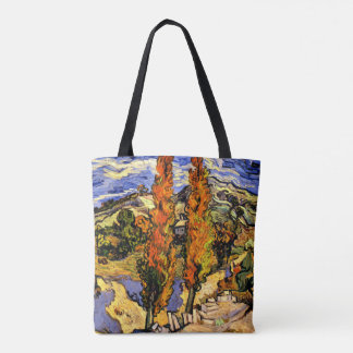 Van Gogh - Two Poplars on a Hill - 1889 Tote Bag