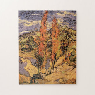 Van Gogh Two Poplars on a Road Through the Hills Jigsaw Puzzle