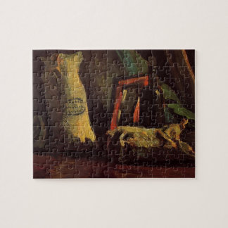 Van Gogh Two Sacks and Bottle, Vintage Still Life Jigsaw Puzzle