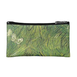 Van Gogh | Two White Butterflies Makeup Bags
