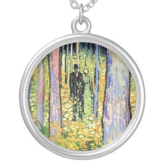 Van Gogh - Undergrowth With Two Figures Custom Jewelry