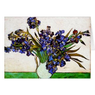 Van Gogh Vase of Irises Note Card